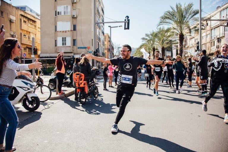 חצי מרתון תל אביב קו הסיום