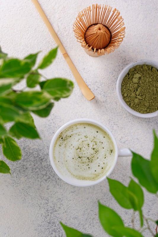 תה מאצ'ה עשיר בנוגדי חימצון